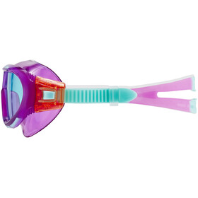 speedo Biofuse Rift Goggle Juniors Orchid/Soft Coral/Peppermint